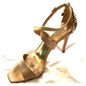Rose gold stilettos by Badgley Mischka